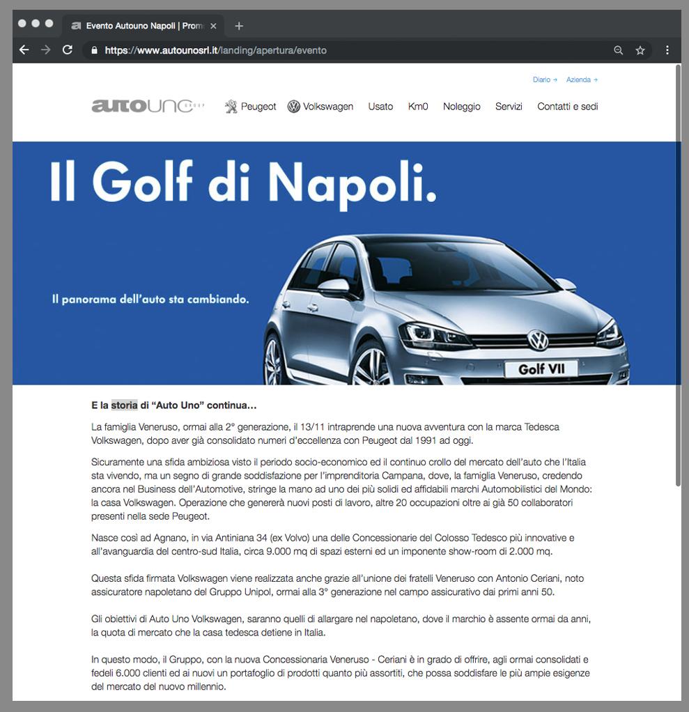 Evento apertura concessionaria Volkswagen Napoli