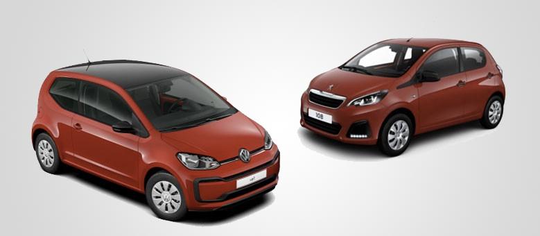 Volkswagen up! e Peugeot 108: le due piccole in promozione per la festa della Donna 2017