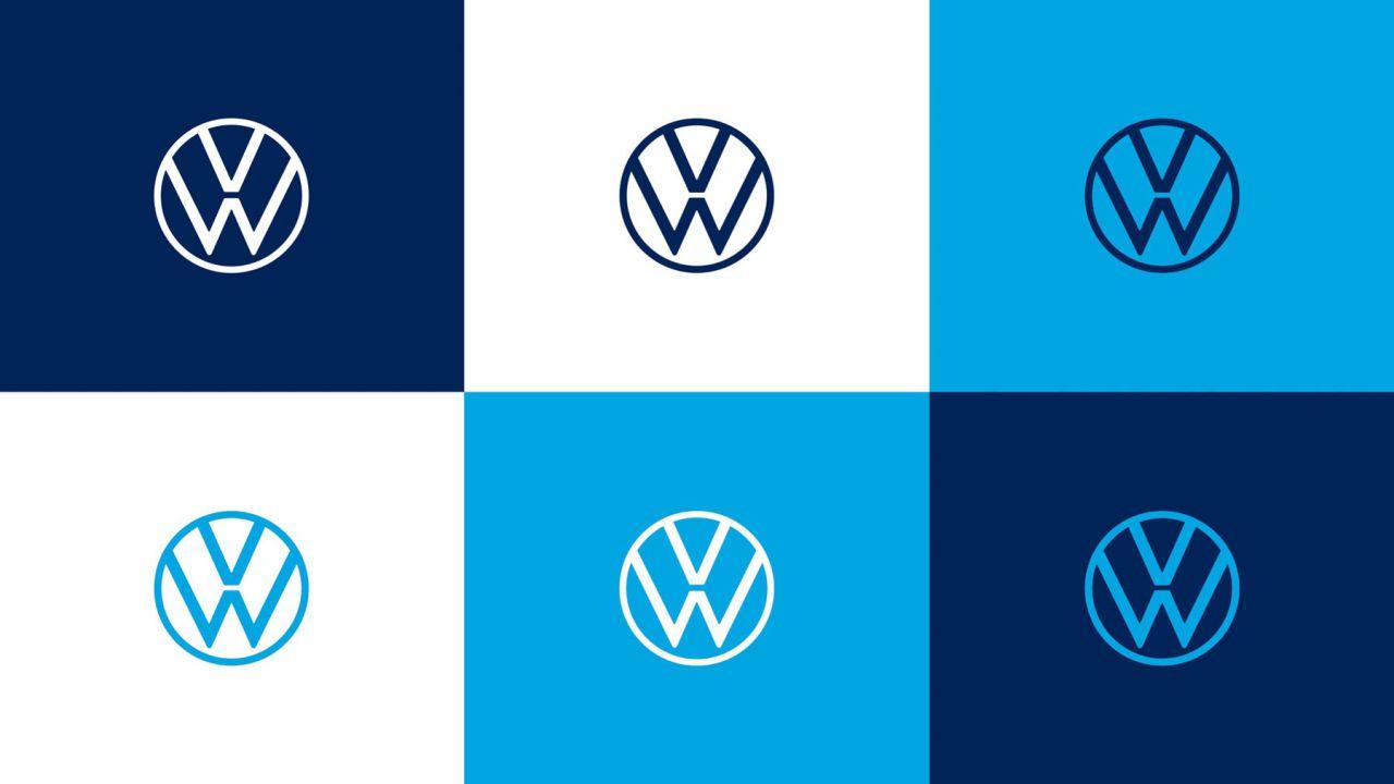 Nuovo logo volkswagen: applicazioni cromatiche